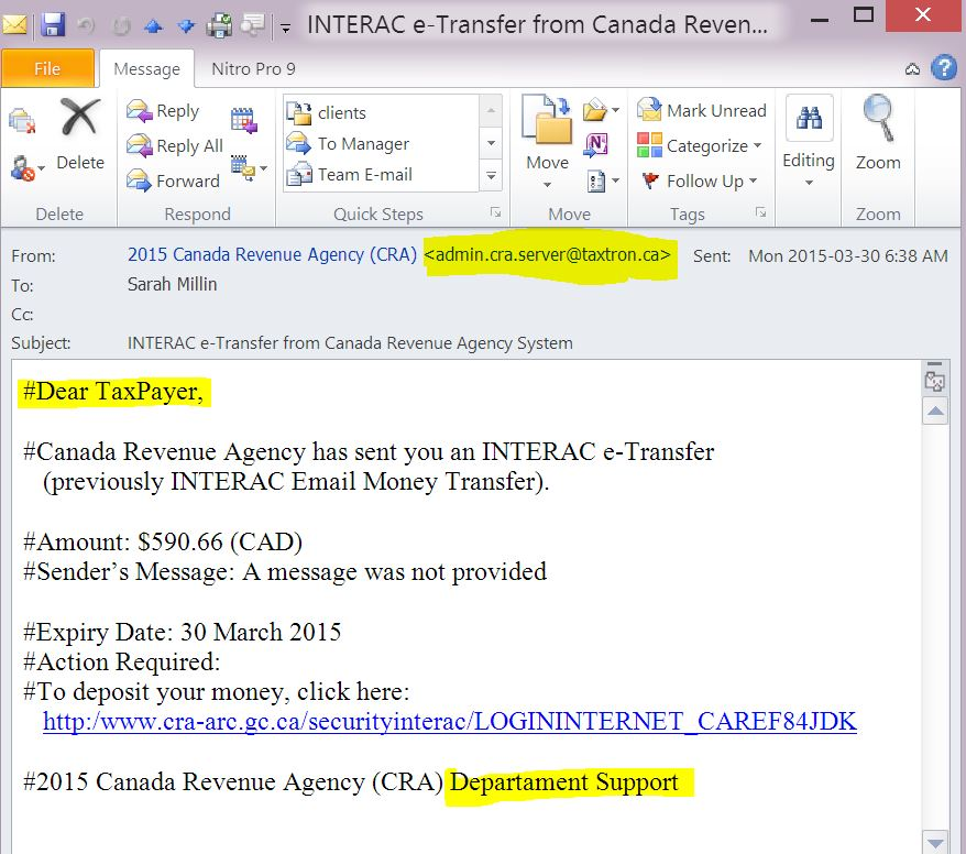Don't get phished in by fake emails