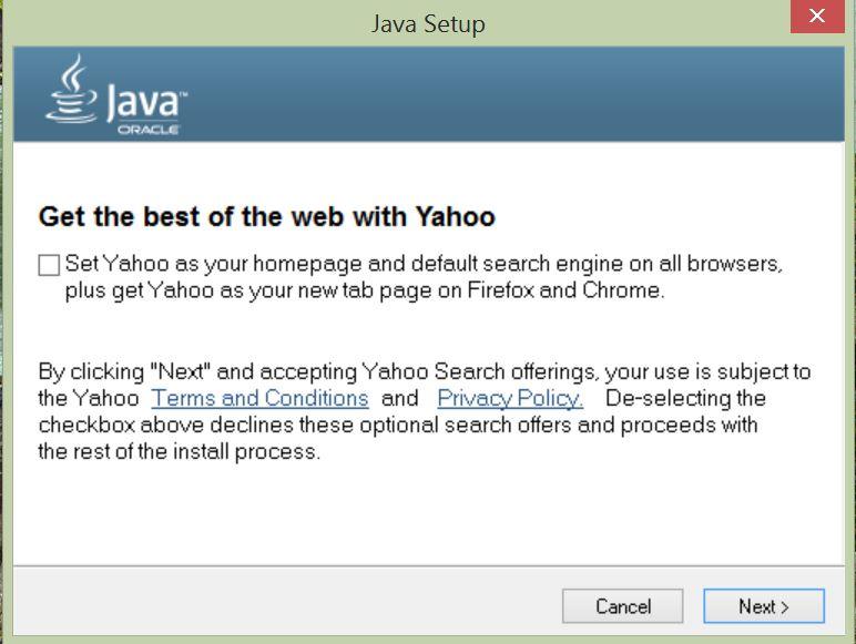 Java crapware option