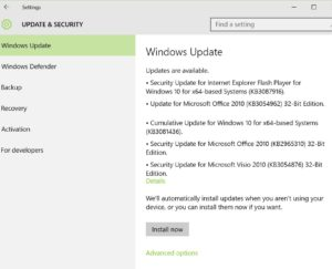 Windows 10 Patch Tuesday