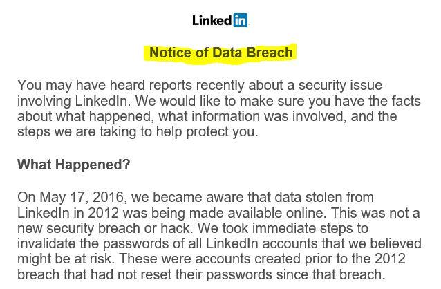 LinkedIn Breach