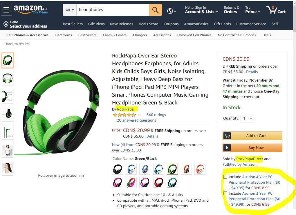 amazon options