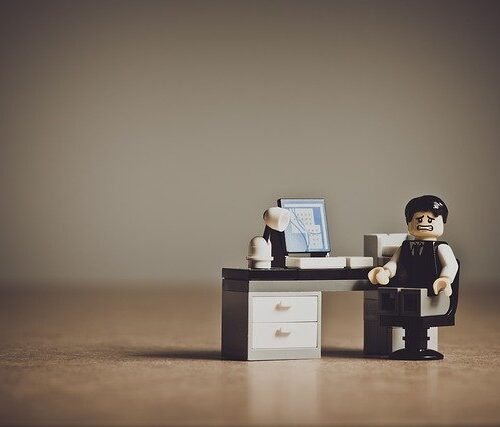 despair business guy at desk