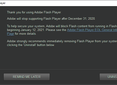 Flash in the bin