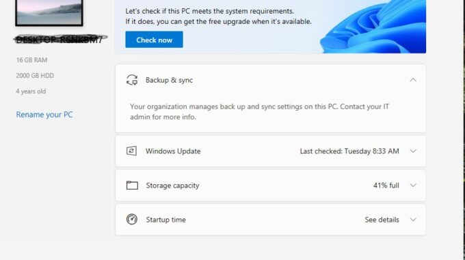 New PC Health Check